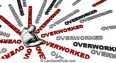 Overworked - Suffering From Overworked with a Victim Crying...