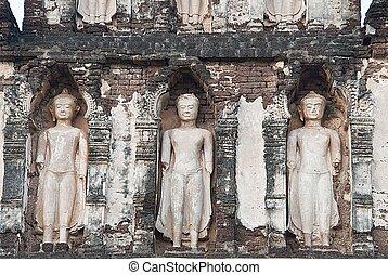 Old stupa in Jamadevi temple, Lamphun Thailand.