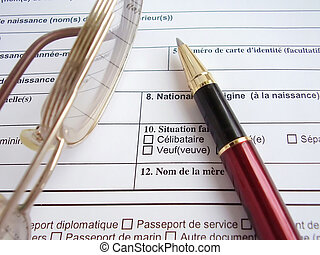 Filling visa - Tool in to fill a visa to France