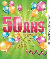 French birthday card 50 years