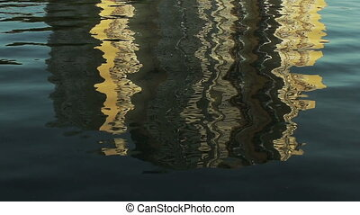 Reflection of buildings on the water