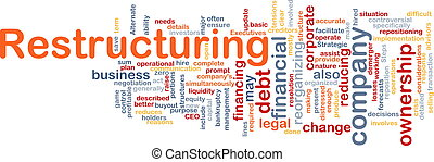 Restructuring word cloud - Word cloud concept illustration...