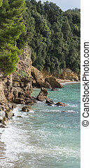 lerici - ligurian coastline in lerici a very beautiful...