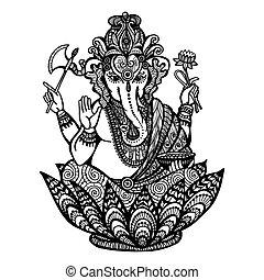 Decorative Ganesha Illustration