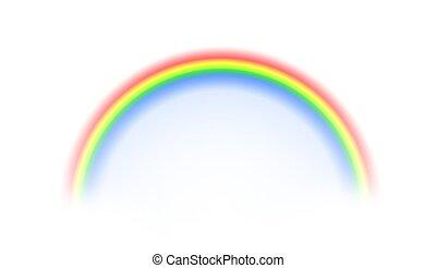 Rainbow on white background. illustration.