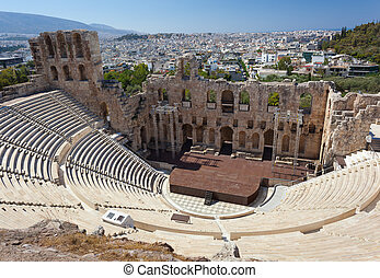 The Odeon of Herodes Atticus, Athens. - The Odeon of Herodes...