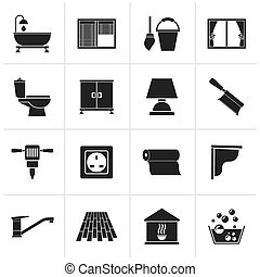 Construction Icons - Black Construction and building...