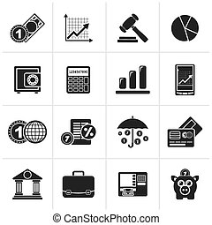 Business and finance icons - Black Business and finance...