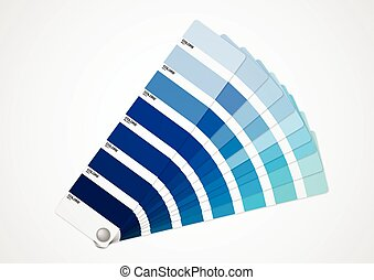 Blue tone - Presentation of differents shades of blue on...