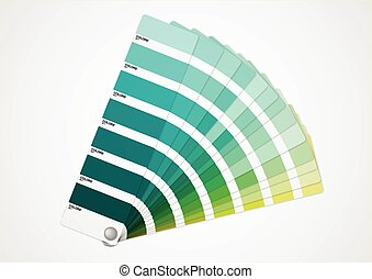 Green tone - Presentation of differents shades of green on...