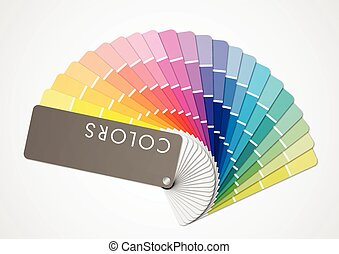 Multicolors tone - Presentation of differents colors on...