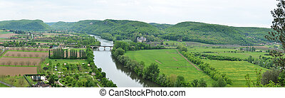 Fertile valley of the Dordogne river