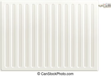 Realistic Heating Radiator - Realistic white indoors heating...