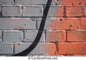 graffiti - detail of a graffiti on a wall