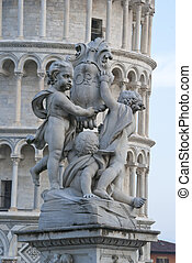 Architectural Detail of Piazza dei Miracoli, Pisa, Italy