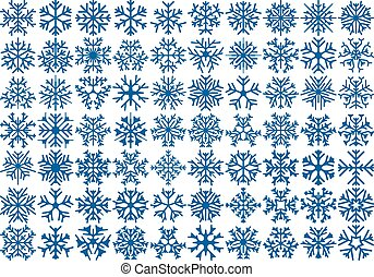 Set of 70 snowflakes - Big set of 70 snowflakes Winter...