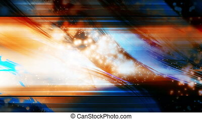 Orange and blue cosmic abstract