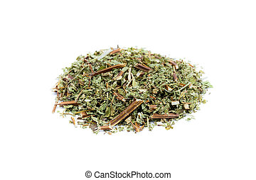 Heap of loose tea lemon balm - Pile of loose tea lemon balm...