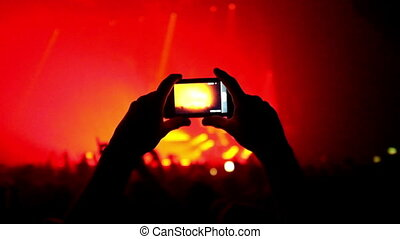 Crowd Filming the Concert - Here is footage of people crowd...