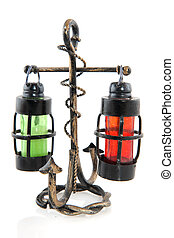 Anchor with ship lights - anchor with storm lights for the...