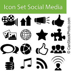 Icon Set Social Media with 16 icons for different purchase...