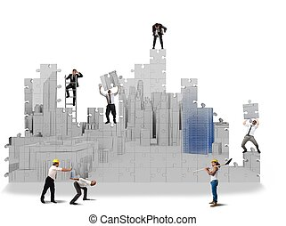 Build projects in 3d - Team collaborate to build projects in...
