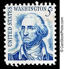 Vintage George Washington USA 5c postage stamp - George...