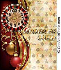 Christmas poker banner