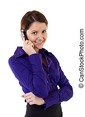 Businesswoman on Phone - Businesswoman talking on the Phone...