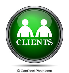 Clients icon. Internet button on white background.