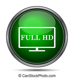 Full HD icon Internet button on white background
