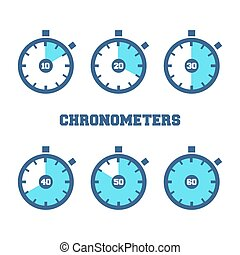 Sports Chronometers Time Laps - Set of sport chronometers...