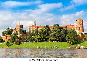 Wawel castle in Kracow - The Wawel castle in Kracow in...
