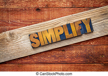 simplify word - rustic sign - simplify word rustic sign -...