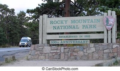 National Park Entrance - Rocky Mountain National Park...