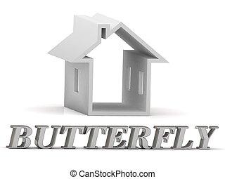BUTTERFLY-, inscripción, de, plata, Cartas, y,...