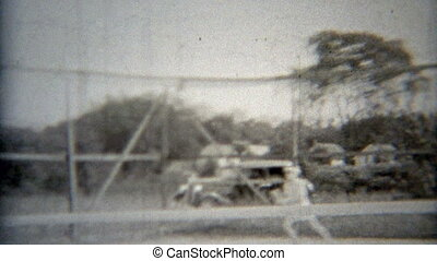1937: Tennis play - Original vintage 8mm film home movie...