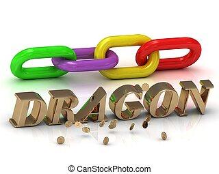 碑文, 手紙, 鎖, 色,  dragon-, 明るい