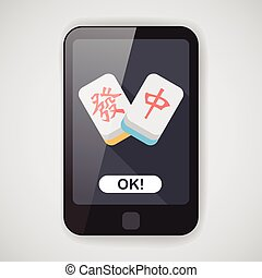 Chinese New Year flat icon icon with long shadow, Chinese...