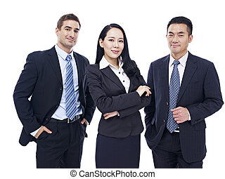 multinational,  portrait,  Business, équipe