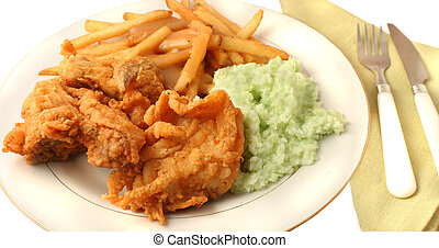 Southern fried chicken dinner - Southern fried chicken,...