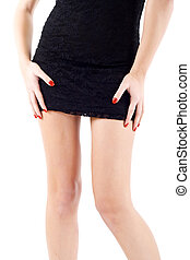 Mini skirt on a woman - picture of a mini skirt on a woman,...