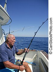 pescador de caña, 3º edad, grande, juego,...