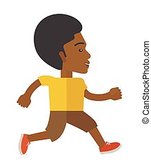 Jogger - An african-american man jogging on street vector...