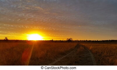 Australian Landscape Dirt Road Sunset Sunrise