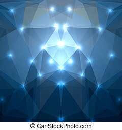 Abstract dark blue triangles background