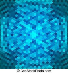 Abstract blue background of hexagons