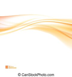 Abstract orange wind. Colorful smooth light lines...