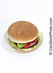 hamburger background - refreshment hamburger