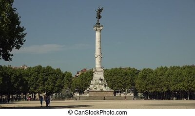 Monument of Girondins in Bordeaux - Statue of the Girondins,...